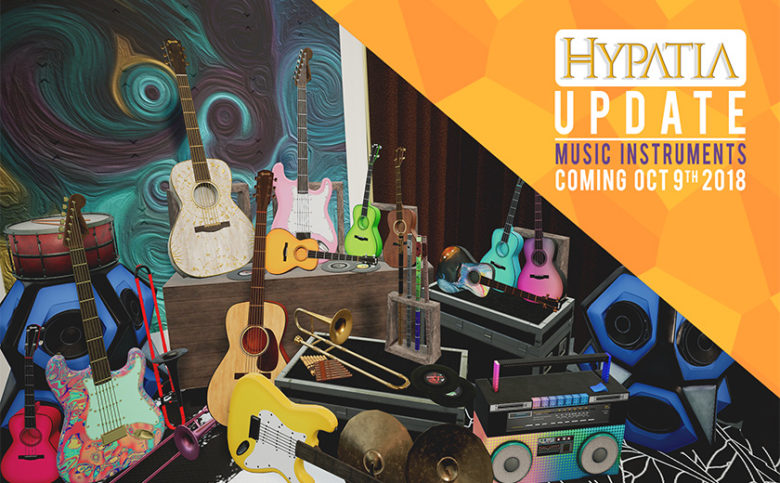 Timefirevr Brings The Highly Anticipated Musical Instruments Update To Hypatia The Virtual City Social Vr Game